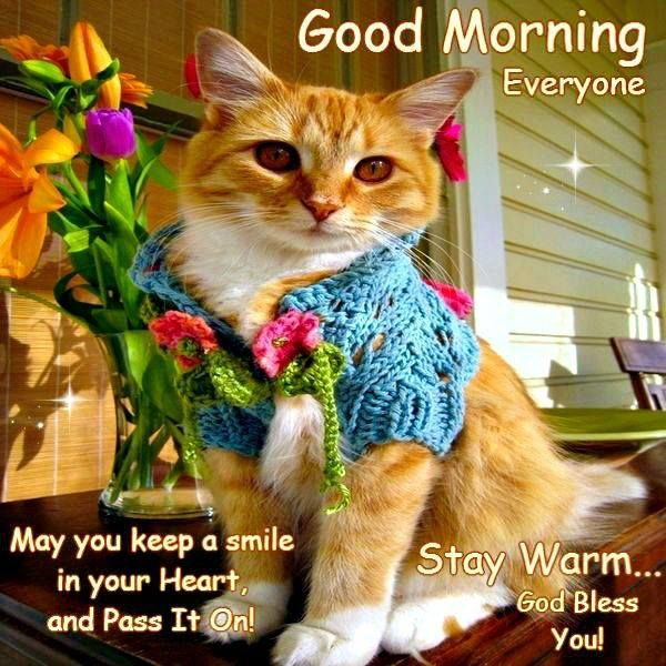 Good Morning Everyone God Bless You All : Good morning everyone stay warm god bless you a new
