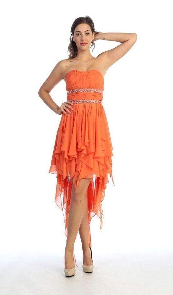 Empire Gown Orange