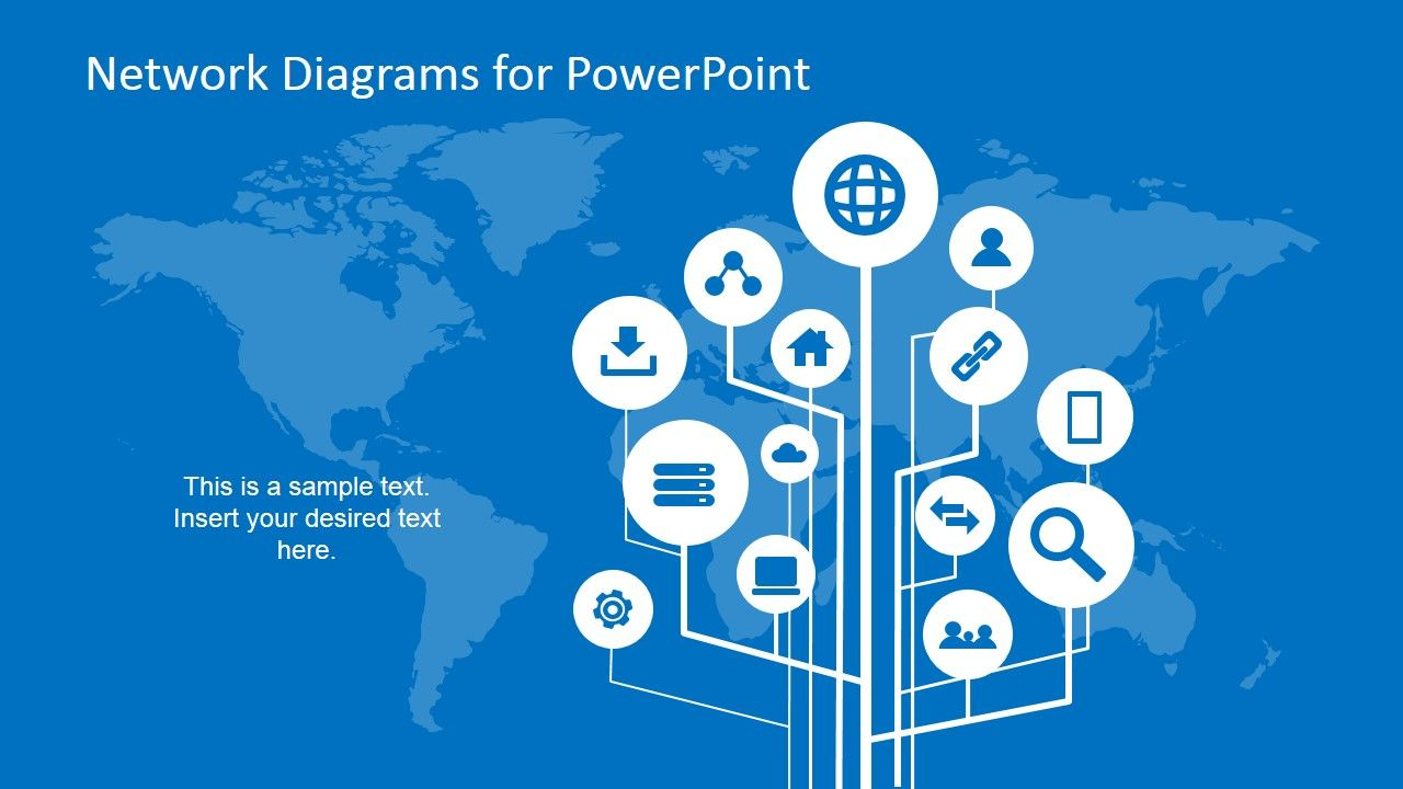 simple network diagrams for powerpoint | presentation design, Powerpoint templates