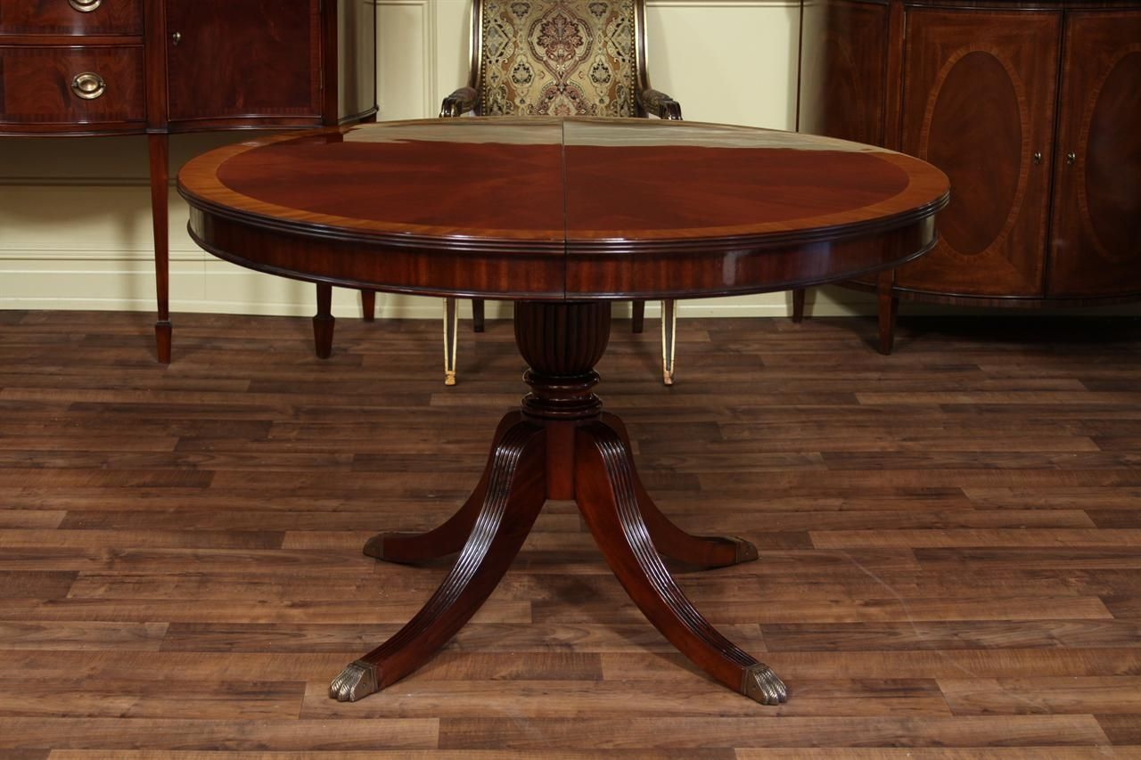 Round Mahogany Kitchen Table  Httpmanageditservicesatlanta Adorable Hickory Dining Room Sets Inspiration