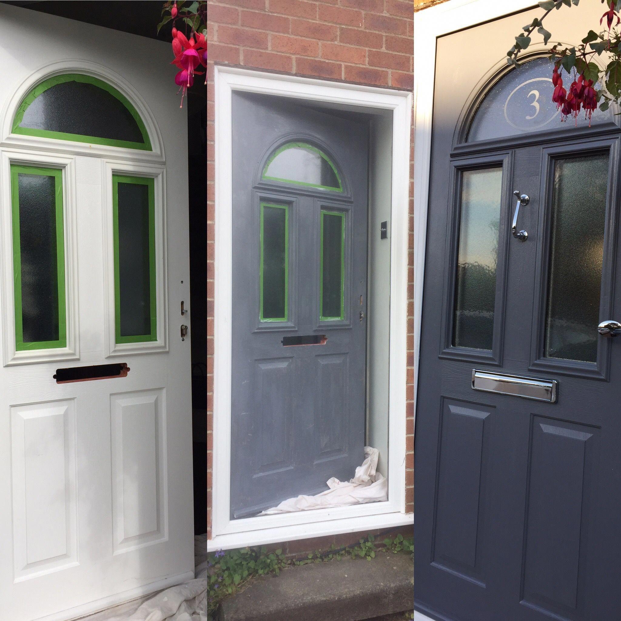 Upvc Painted Front Door 2 Coats Upvc Primer From Sandtex 2 Coats Dulux Exterior Satin Cheap Front D Cheap Front Doors Painted Front Doors Painted Upvc Door