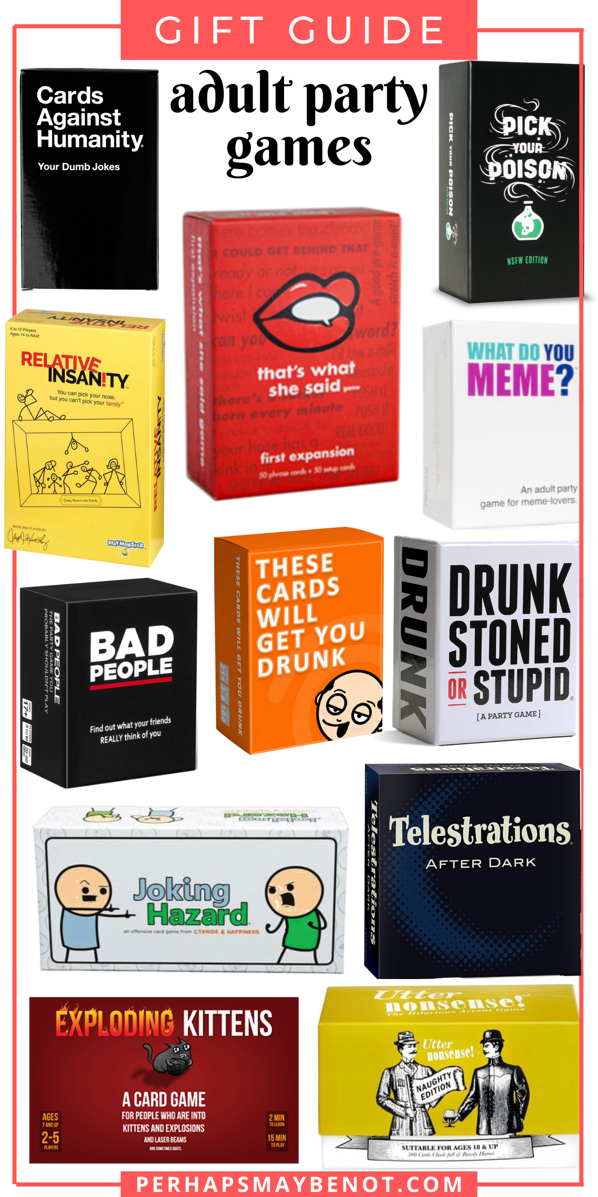 12 Popular Board Games for Adults - Perhaps, Maybe Not