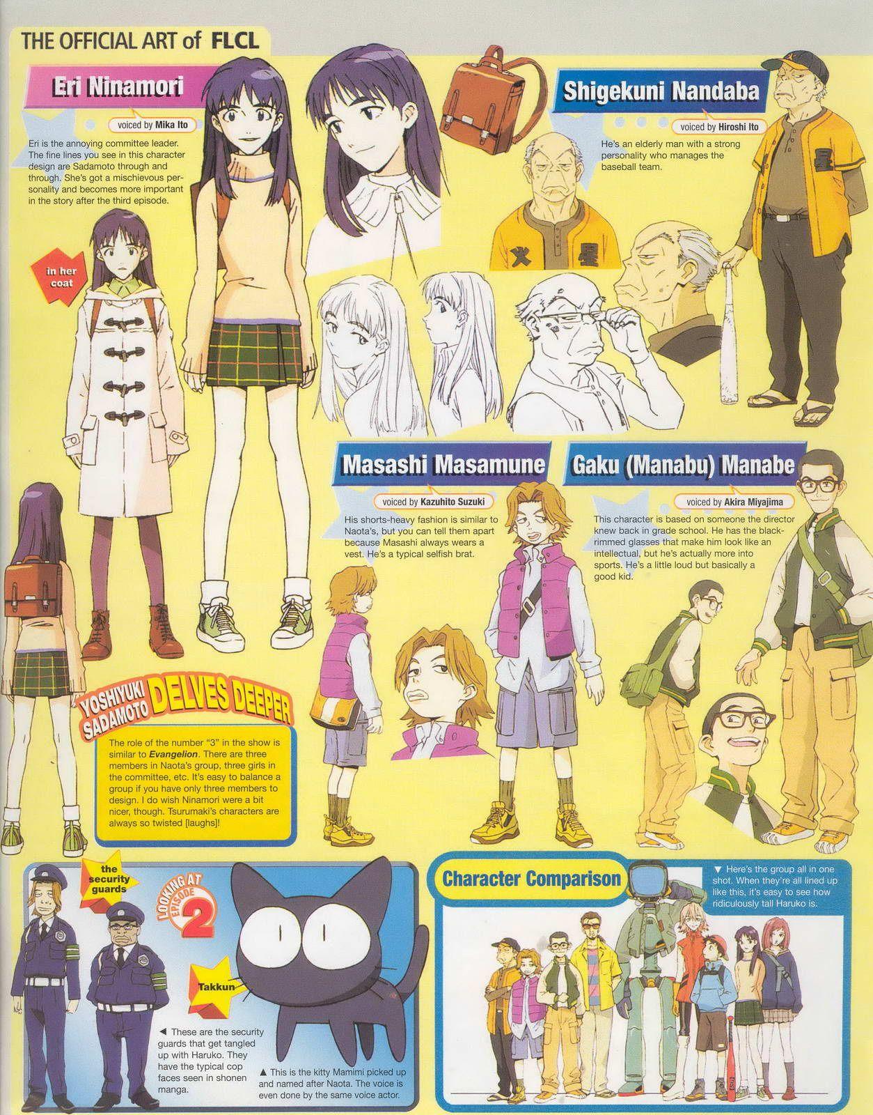 Anime Artbooks · SPECTRUM NEXUS Flcl characters