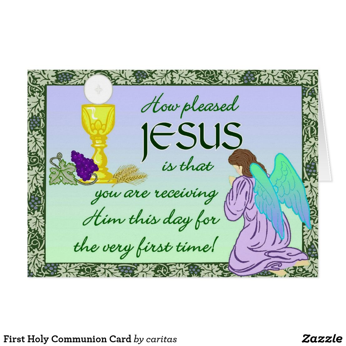 First holy communion card first communion