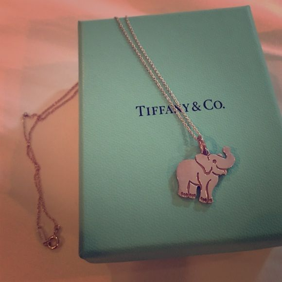 d098510a0d4d8 Tiffany & Co. Elephant Charm & Chain Sterling silver tag charm and ...