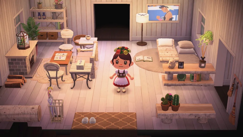 Really Proud Of White Wood Themed Living Room Animalcrossing In 2020 Animal Crossing Characters New Animal Crossing Animal Crossing Game