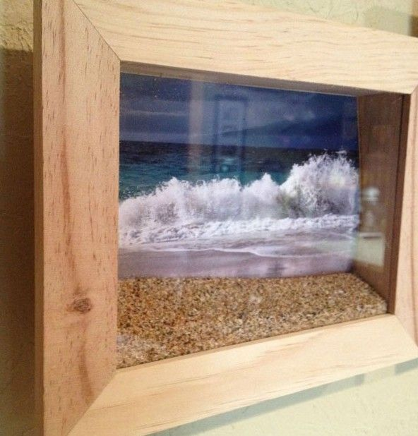 Shadow Box + Favorite Vacation Photo + Sand (from your vaca if it is legal to transport)= Superstar wall hanging.