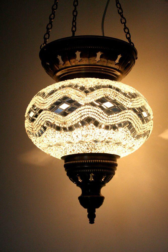 Extra Large Turkish Moroccan Mosaic Hanging Lamp Shade Pendant