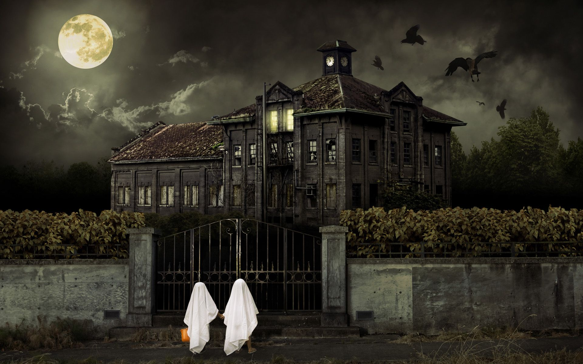 Halloween Spooky House.Spooky Wallpapers Halloween Scary House Hd Wallpaper