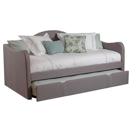 kids upholstered day bed gray (twin) - powell company