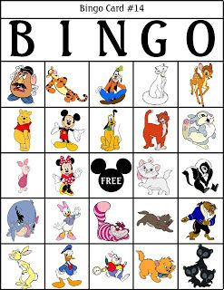 picture relating to Disney Bingo Printable identify RobbyGurls Creations - Disney bingo printables Disney
