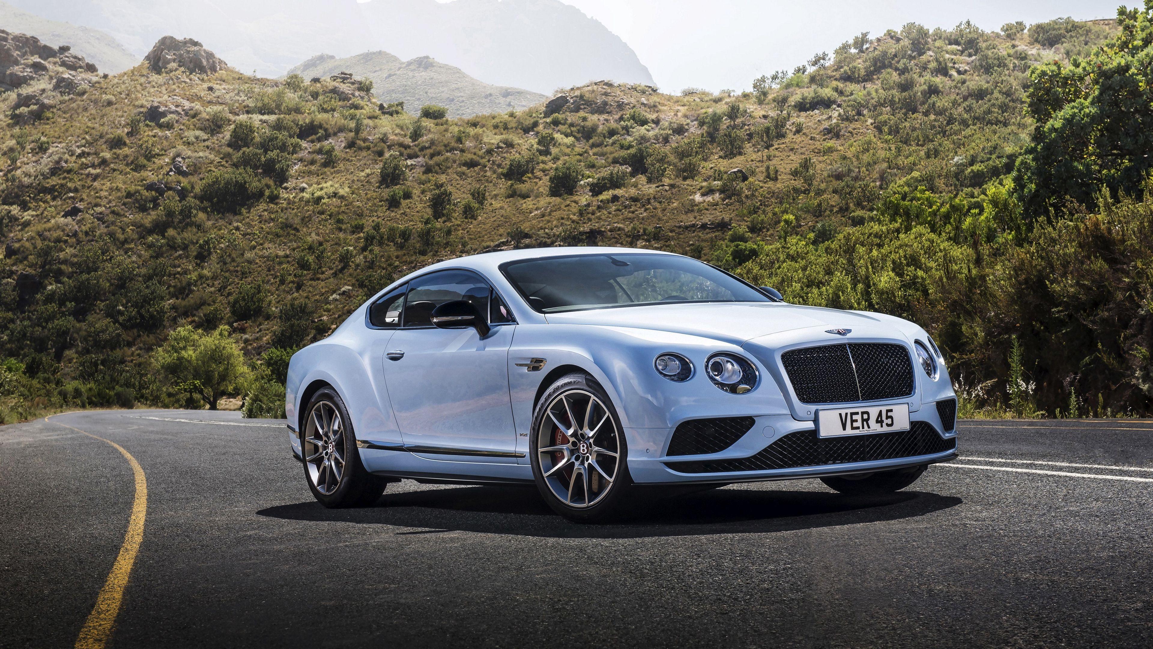 Wallpaper 4k Bentley Continental Gt White Side View Road 4k