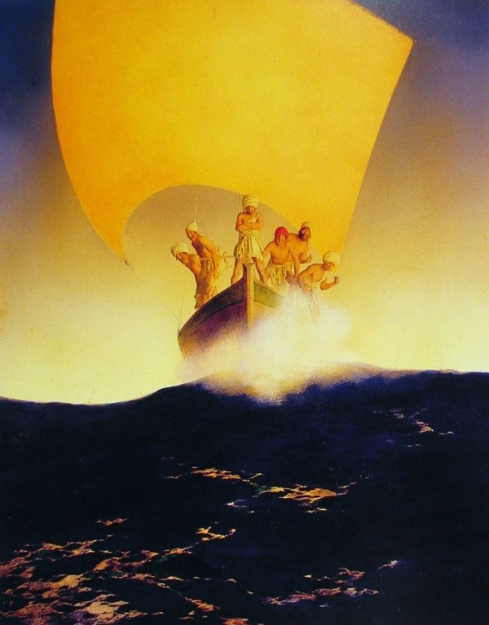 """""""The History of Codadad and His Brothers"""" by Maxfield Parrish"""