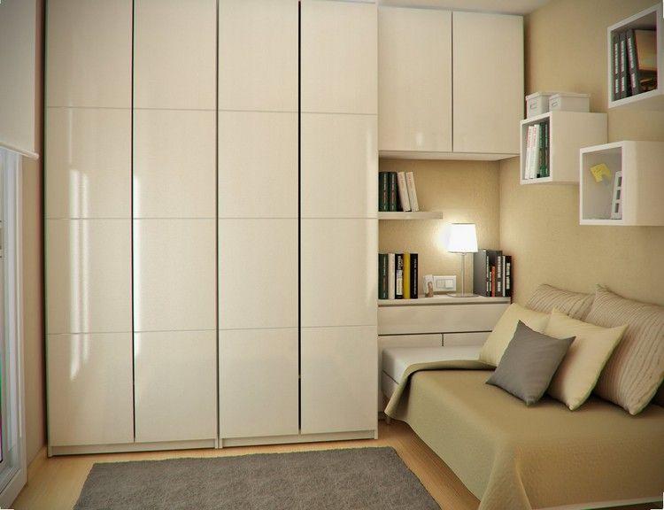Chambre enfant plus de 50 id es cool pour un petit espace lit armoire armoire de rangement for Rangement chaussures dans petit espace