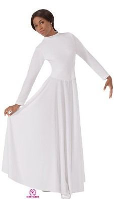 7dfa14b0e37f9 Eurotard 13847 - Eurotard Polyester High Neck Liturgical Dress with Zipper  Back http://