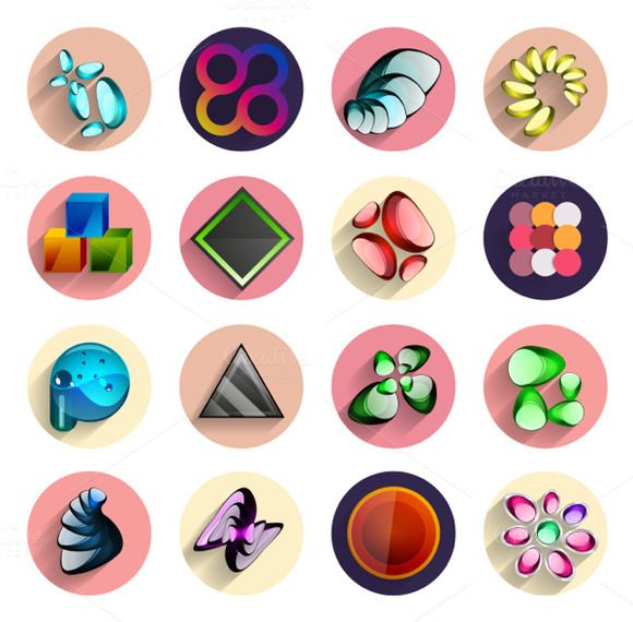 Flat circle designs set by antishock on @graphicsmag