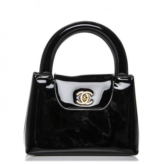 Chanel Patent Mini Kelly Flap Bag Black Chanel Patent Mini Chanel Tote Bag Flap Bag