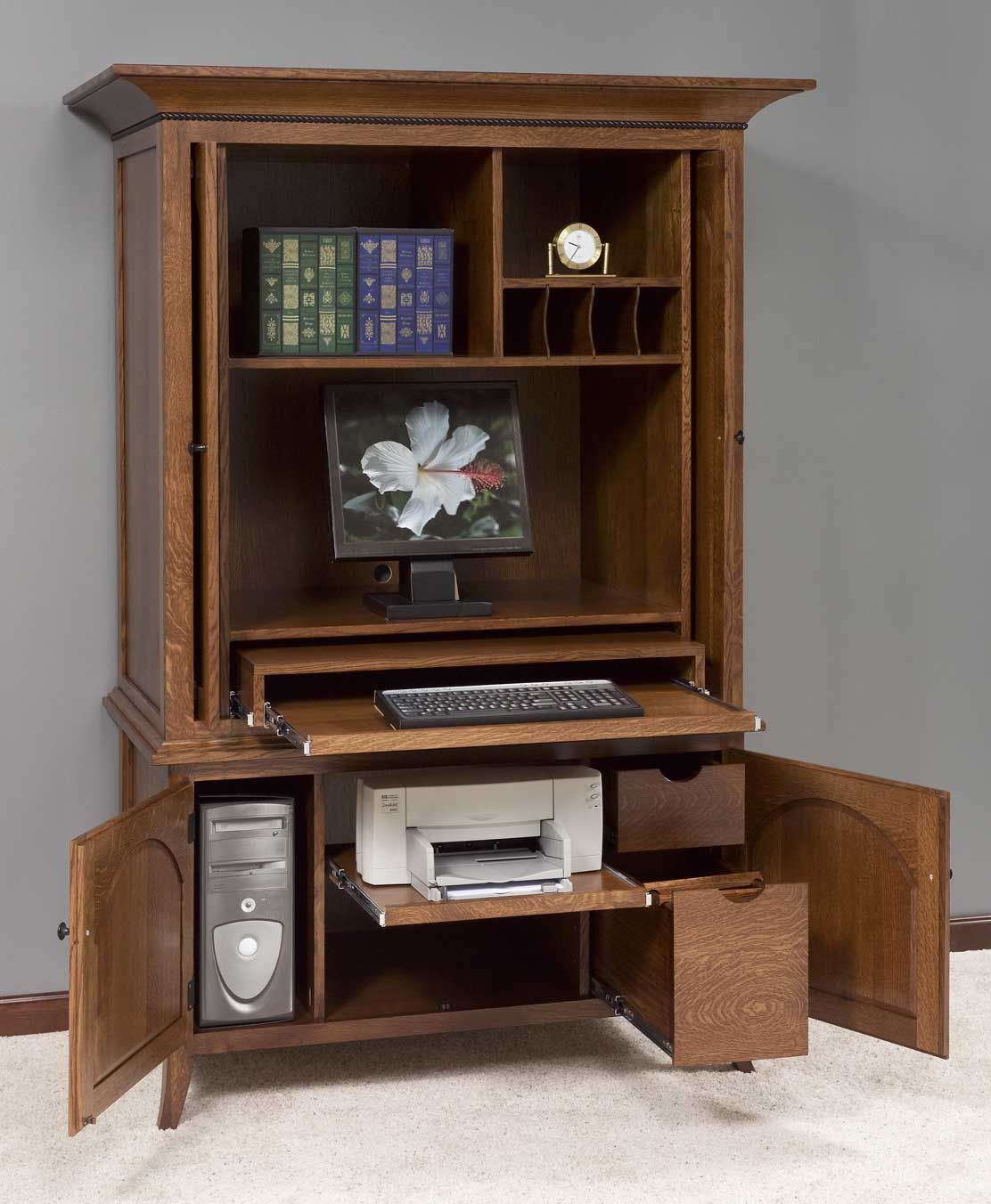 Home Office Furniture Computer Armoires Amishhandcraftedheirlooms Com Images Home Office Computer Armo Computer Armoire Armoire Desk Armoire Repurpose