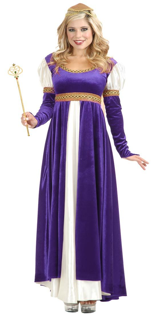 Purple And Ivory Lady Of Camelot Plus Size Costume Renaissance Or