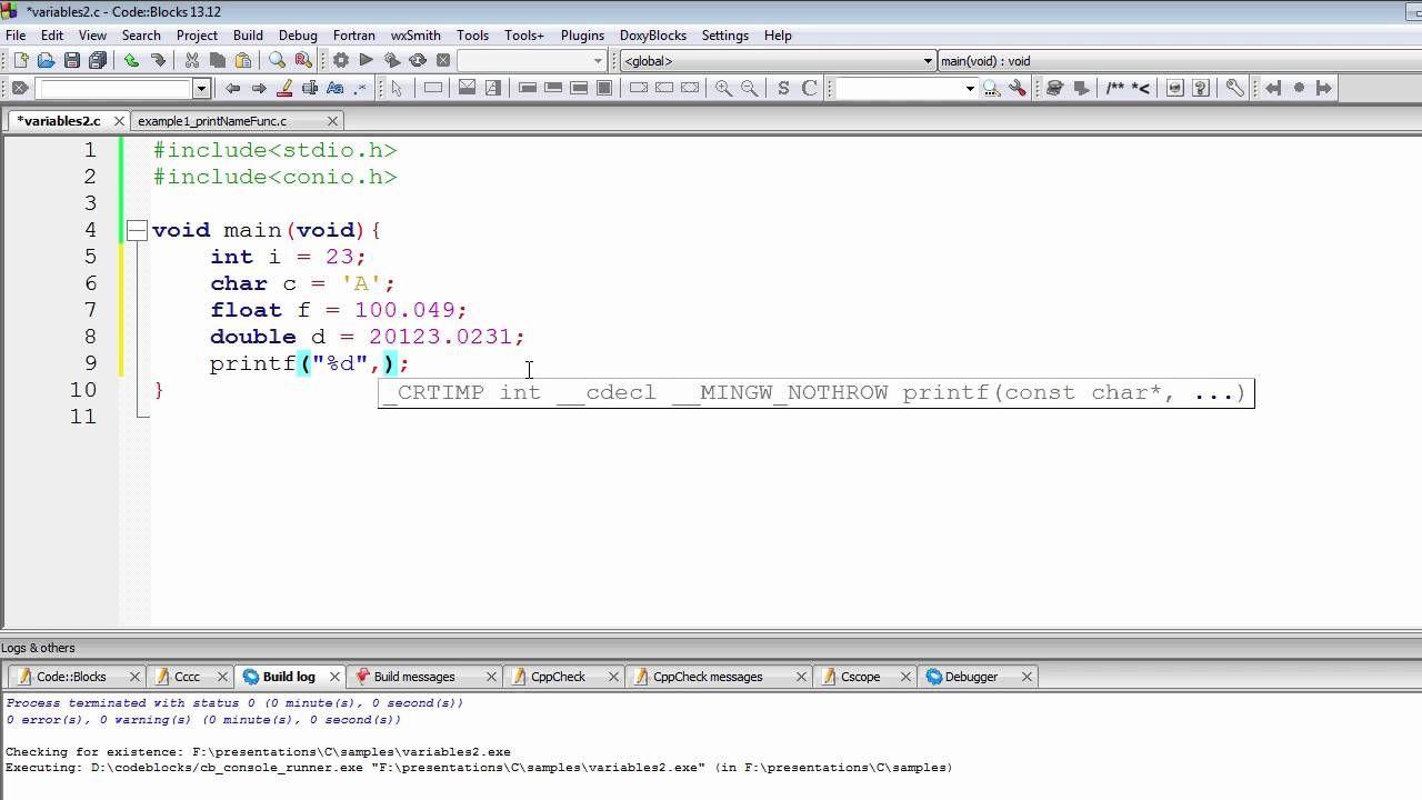 C programming tutorial integer format specifier variable in c programming tutorial integer format specifier variable in printf baditri Gallery