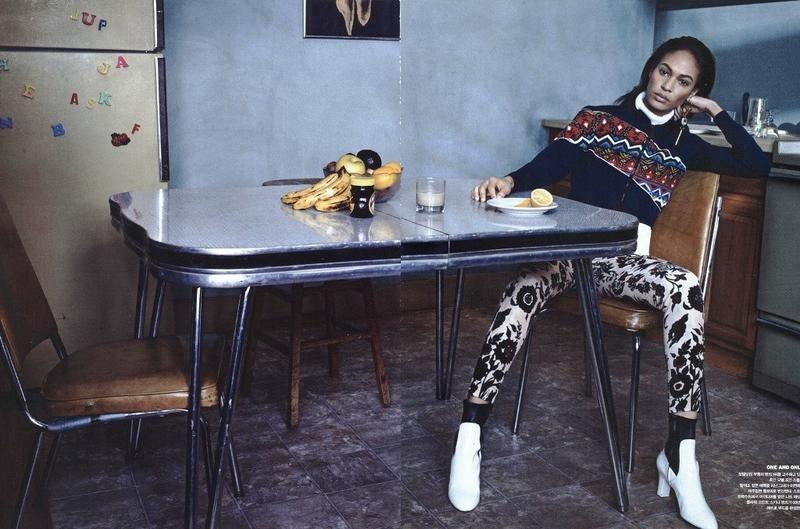 Joan Smalls in Superstars (Vogue Korea) by Sebastian Kim