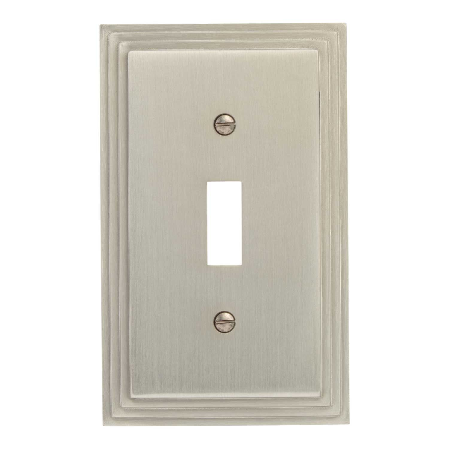 Art Deco Zinc Switch Plate - Brushed Nickel
