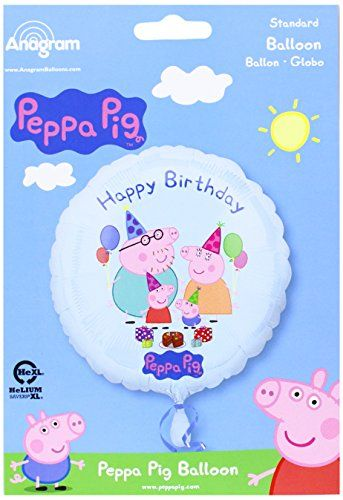 Amscan International Peppa Pig Happy Birthday Balloon * Check out the image by visiting the link.  This link participates in Amazon Service LLC Associates Program, a program designed to let participant earn advertising fees by advertising and linking to Amazon.com.