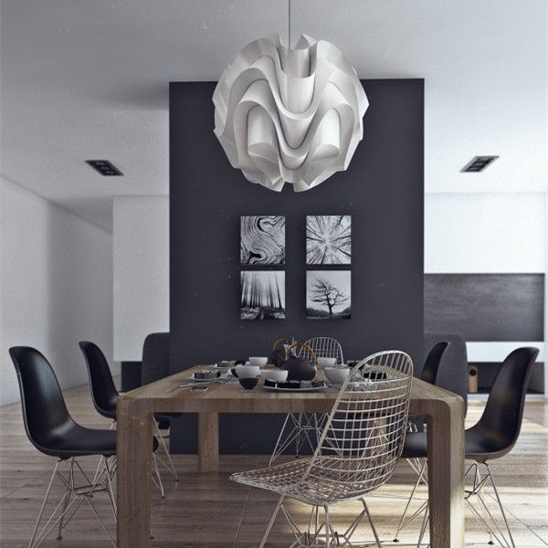 Modern le klint 172b pendant light white plastic shade suspension interesting shapesa curvy light fixture the le klint 172 pendant designed by mozeypictures Gallery