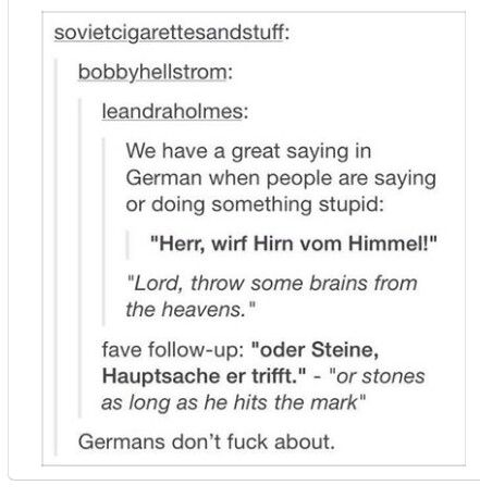 Germans know how to insult