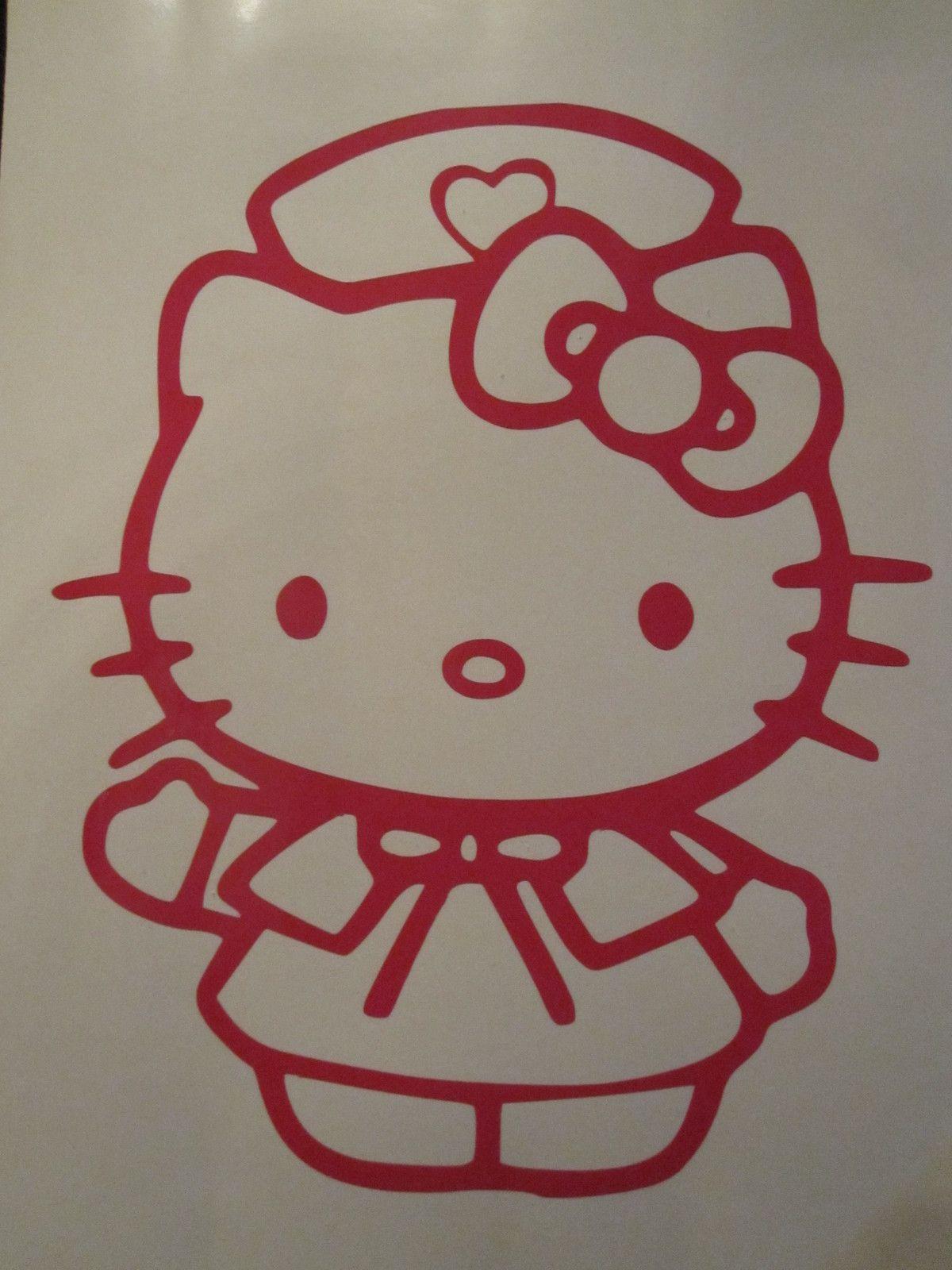 Hello Kitty NURSE decal on my car, it looks awesome | Nursing school ...