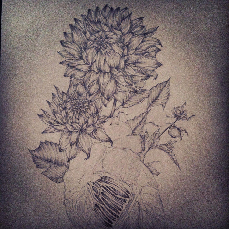 Black And White Dahlia Black Tattoos Dahlia Tattoo Flower Tattoo Shoulder
