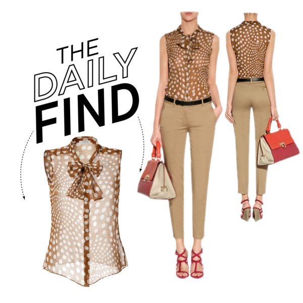 """The Daily Find: Steffen Schraut Blouse"" by polyvore-editorial on Polyvore"