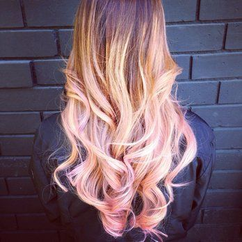 Brown To Blonde Light Pink Ombre Google Search Pink Blonde