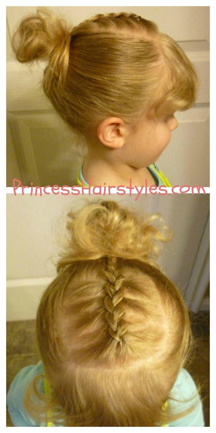 Bow tie braid ponytail hair tutorial kids hairstyles pinterest