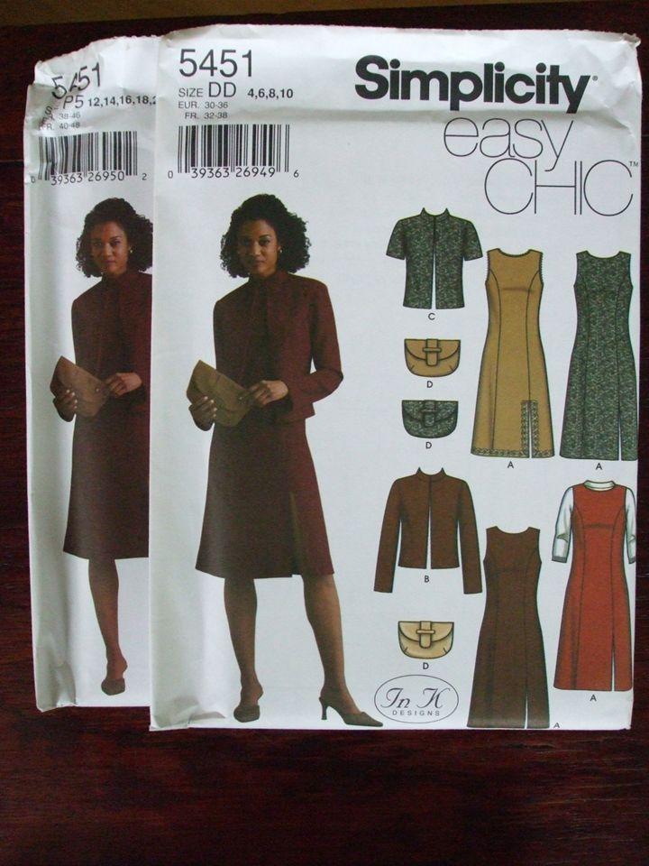 Second Silver - Woman Dress long short jacket clutch ezchic sewing pattern Sz4-24W