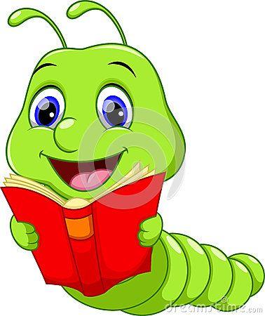 Happy worm cartoon stock vector. Illustration of comic - 73013251