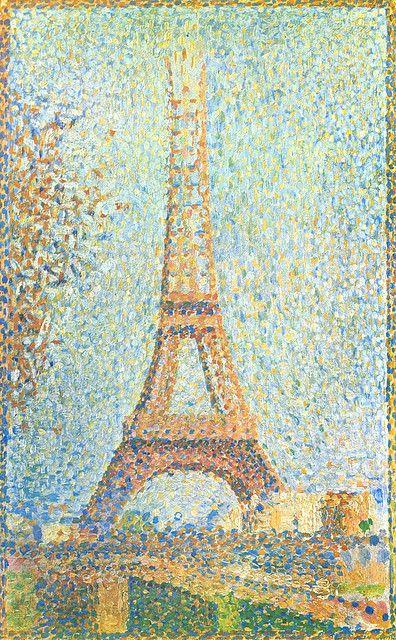 Georges Seurat: 1890 La tour Eiffel inachevée en 2020 | Peinture ...