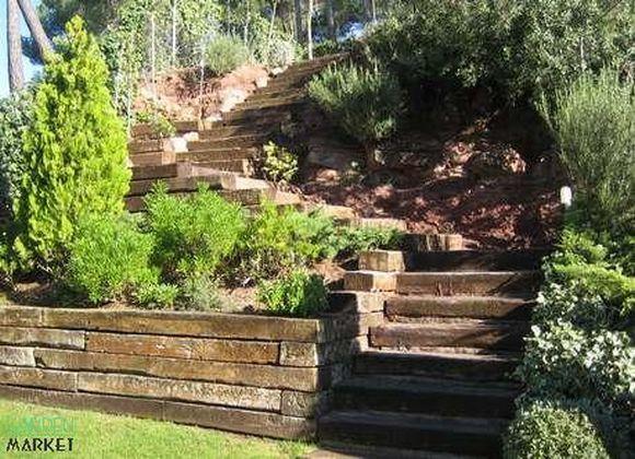 Resultado de imagen de jardines rusticos en laderas Hogares