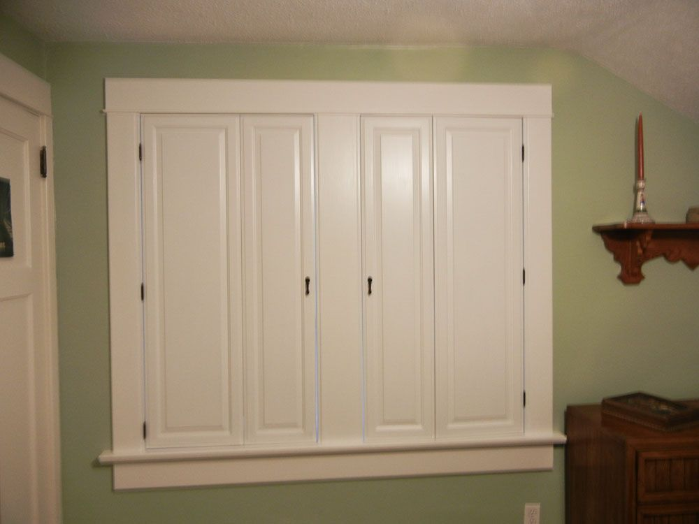 Revere Paint Grade MDF Panel Cabinet Doors For Shutters   Closed