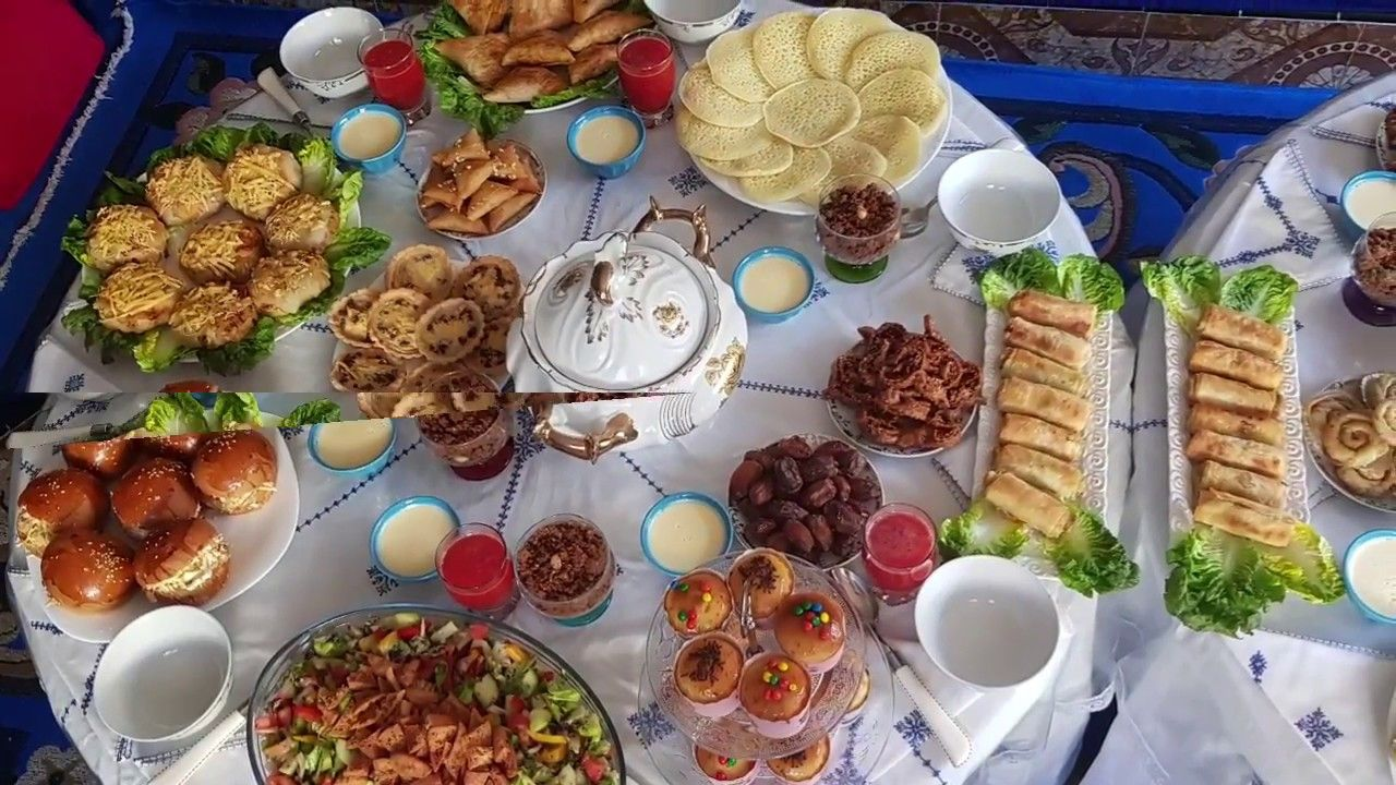 روتيني في تحضير مائدة رمضان للضيوف كيف جاتكم Youtube Make It Yourself Food Table Settings