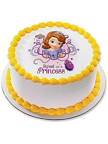 Sofia the First 7.5 Round Edible Cake Topper (Each) - Party Supplies >>> Hurry! Check out this great sales : Baking desserts tools