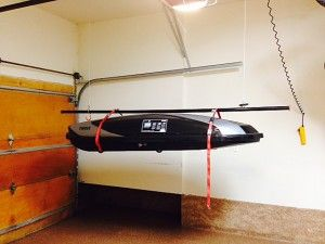 Find Space For Hard To Store Items Nuvo Garage Diy Overhead Garage Storage Kayak Storage Garage Kayak Storage Rack