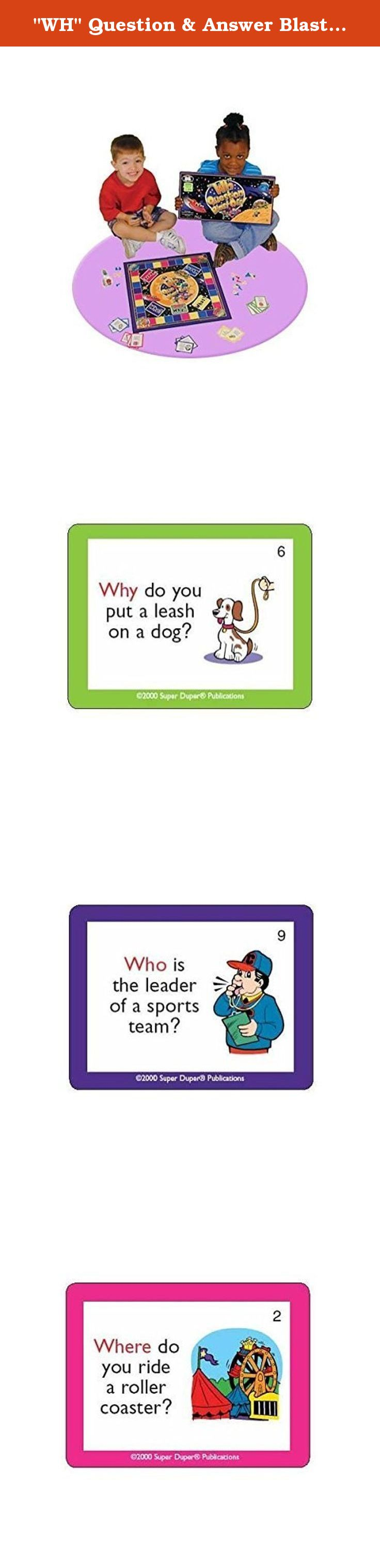 """WH"" Question & Answer BlastOff Board Game Super Duper"