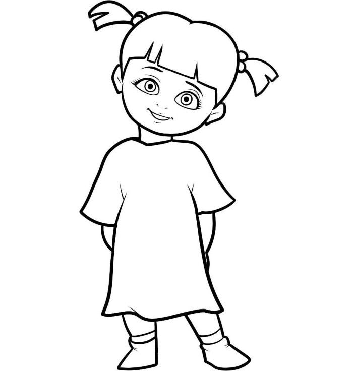 Little Boo Character Monster Inc Coloring Pages