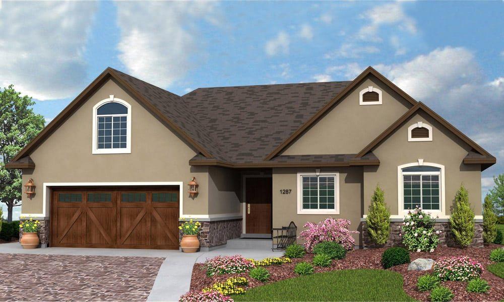 R1287b Hearthstone Home Design House paint exterior