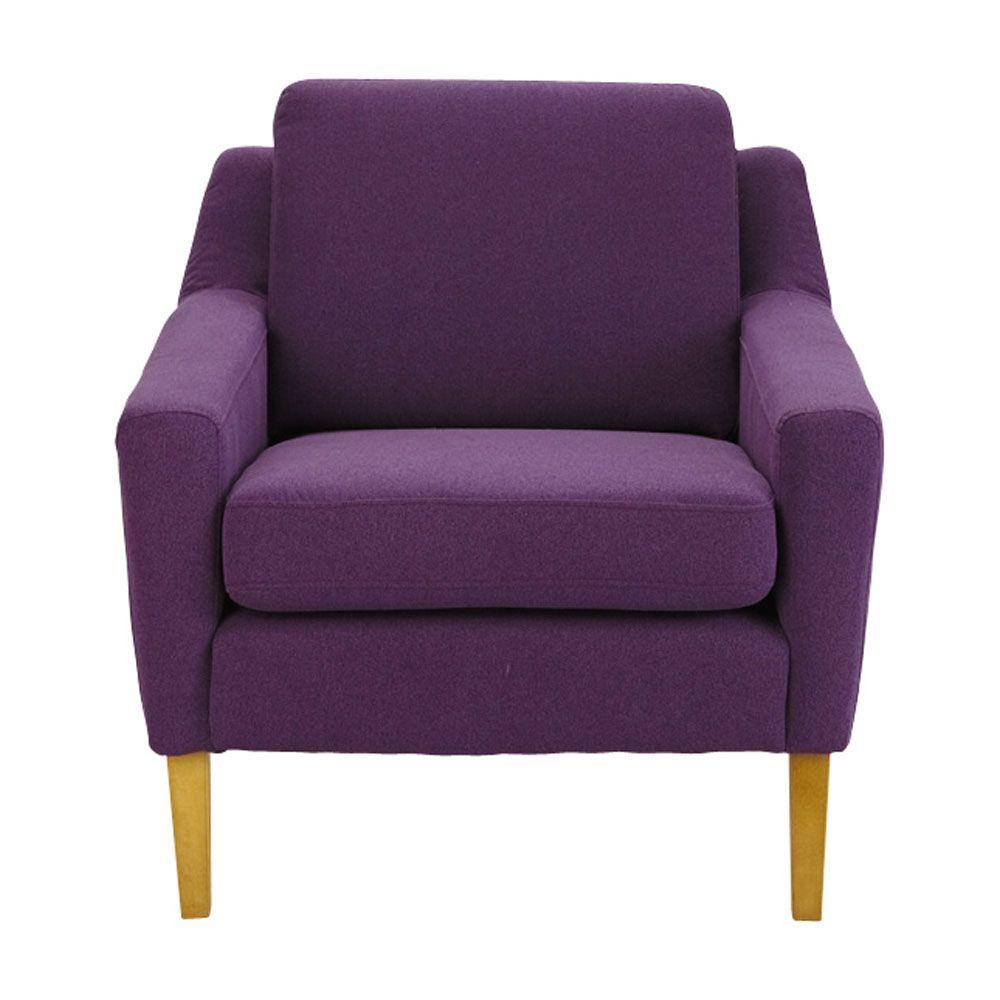 Fauteuil en tissu violet Mad Men | Maisons du Monde | Vintage ...
