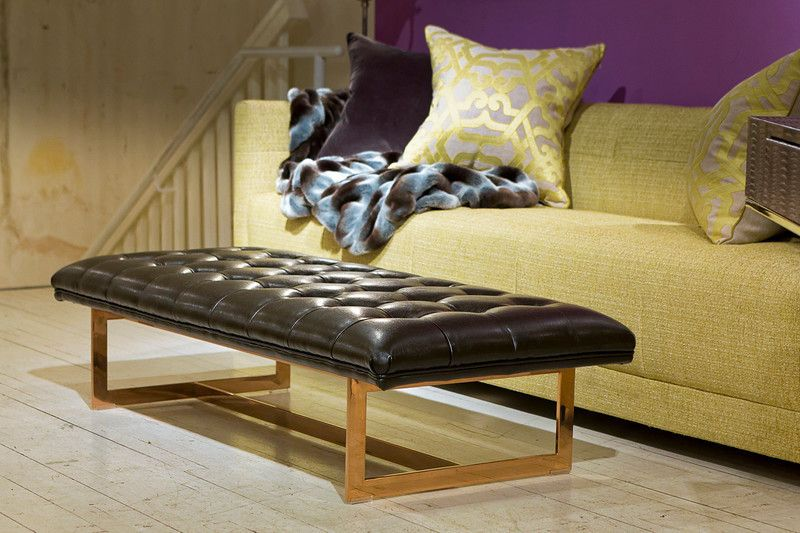 Matisse Ottoman Black Nobility - Sunpan Modern Home   furniture ...