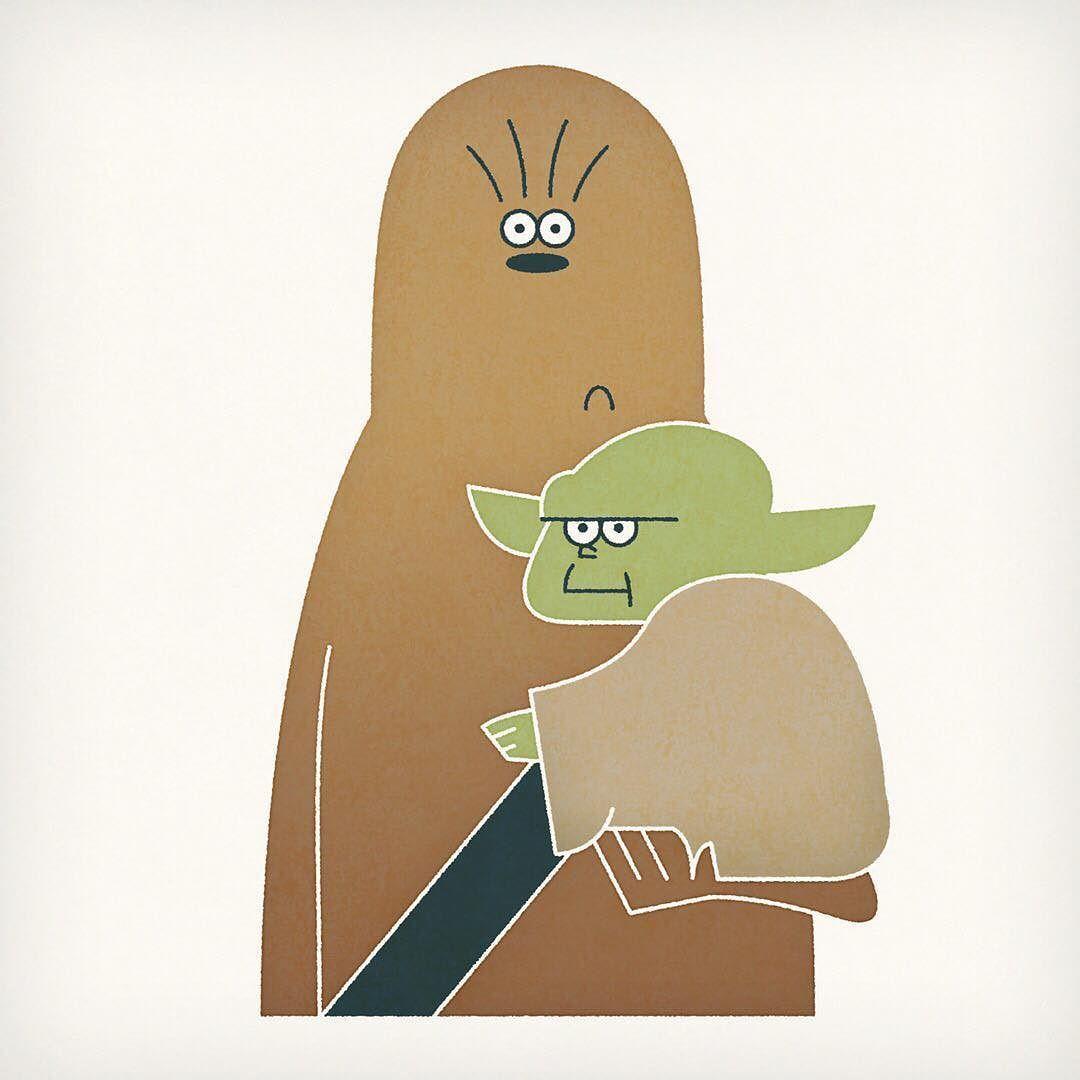 Chewbacca Yoda Illustration スターウォーズ イラスト スター