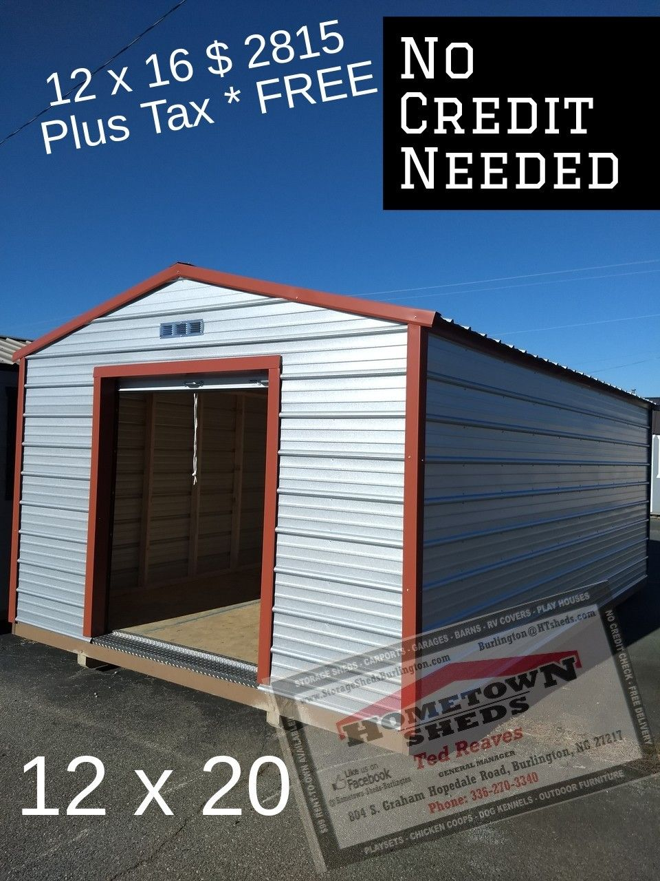 New and Used Sheds Free Delivery and Set Up No Credit