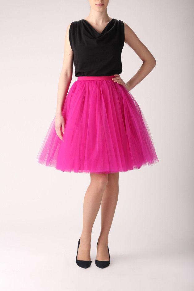49ae90095 Falda de tul fucsia - moda mujer - hecho a mano en DaWanda.es ...